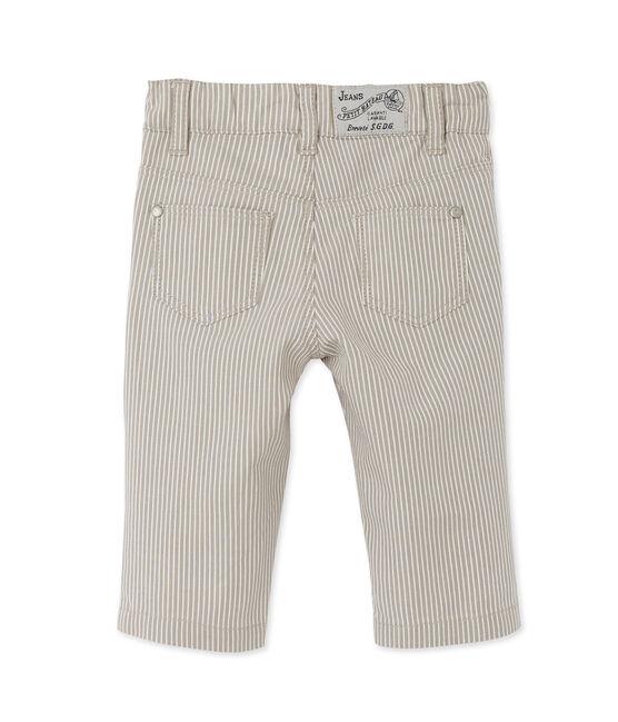 Pantaloni per bebè maschio a righe grigio Minerai / bianco Lait