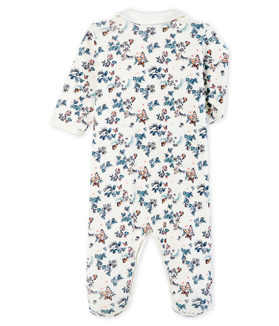 Tutina bebè femmina a costine bianco Marshmallow / bianco Multico