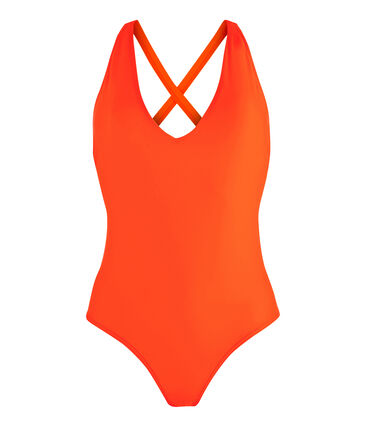 Costume da bagno intero ecoresponsabile donna arancione Tiger
