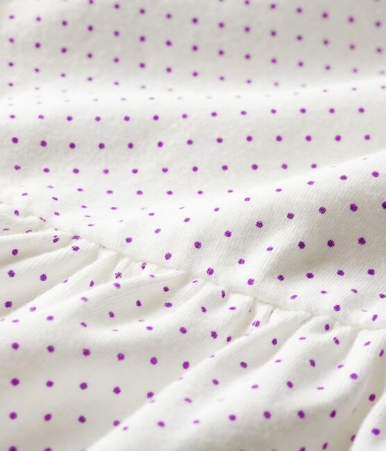 Abito body fantasia bebè femmina viola Real / bianco Marshmallow