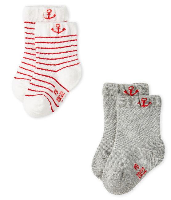 Confezione da 2 paia di calzini leggeri bebè maschio lotto .