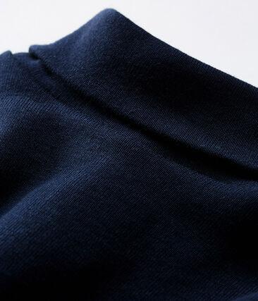 Body manica lunga e dolcevita bebè unisex blu Smoking