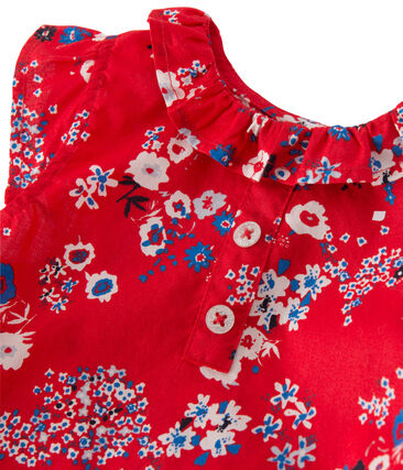 Robe bébé fille imprimée rosso Peps / bianco Multico
