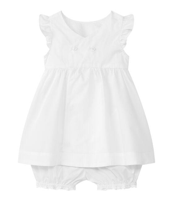 Lotto 2 pezzi per bebé femmina bianco Ecume