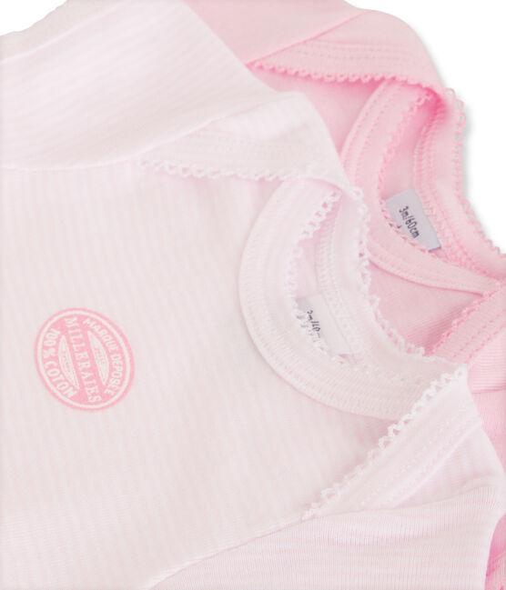 Confezione di 2 bodies maniche corte bebé bambina tinta unta lotto .
