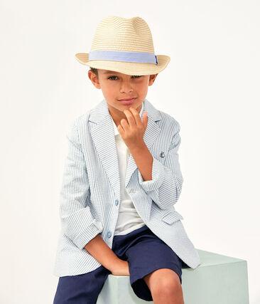 Giacca bambino blu Fontaine / bianco Marshmallow