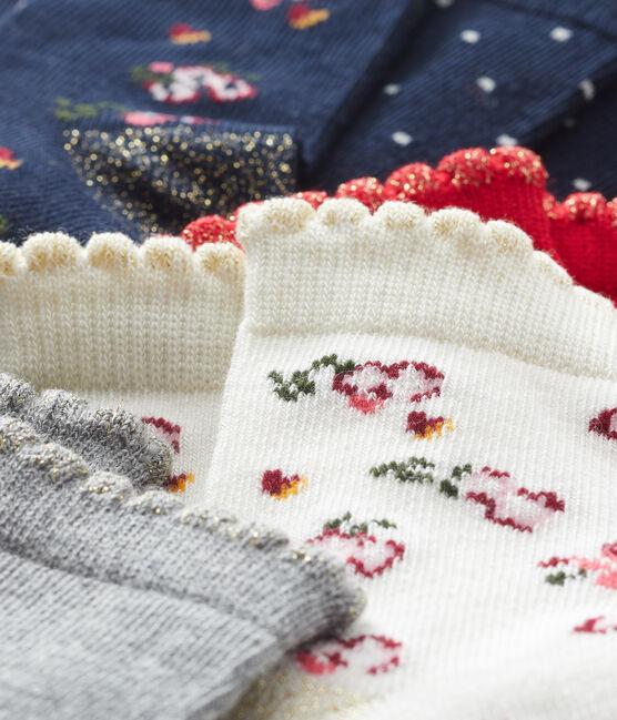 Confezione da 5 paia di calzini bebè femmina lotto .