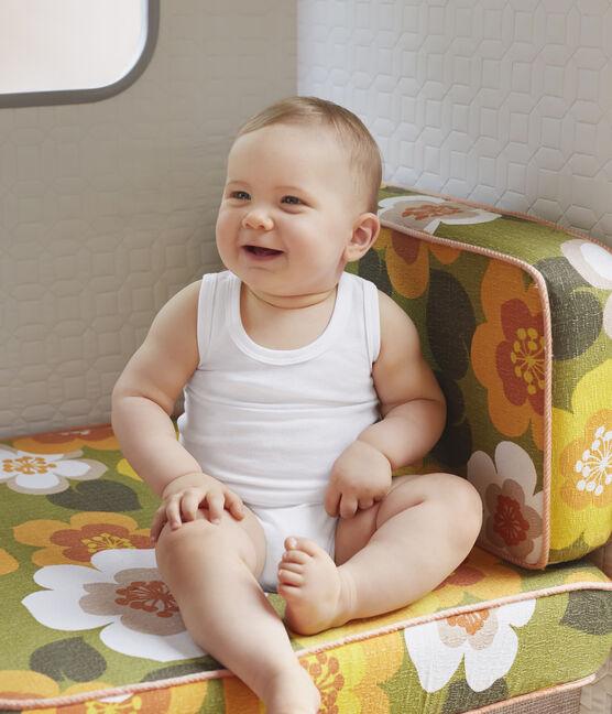 Lotto di 2 body bianchi senza maniche bebè maschio lotto .