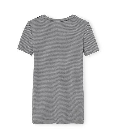 T-shirt manica corta iconica donna blu Smoking / bianco Marshmallow