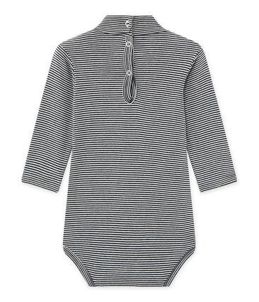 Body millerighe per bebé con collo arrotolato