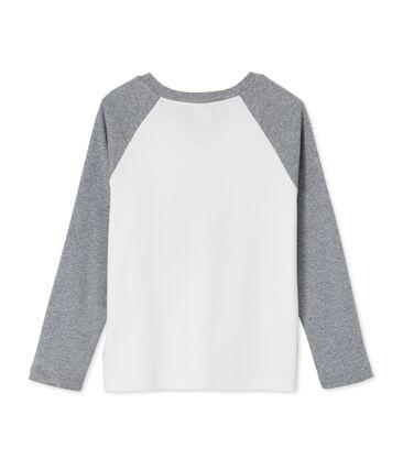 tee-shirtmaniche lunghe con serigrafia per bambino