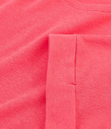 T-shirt a maniche corte bambina rosa Groseiller