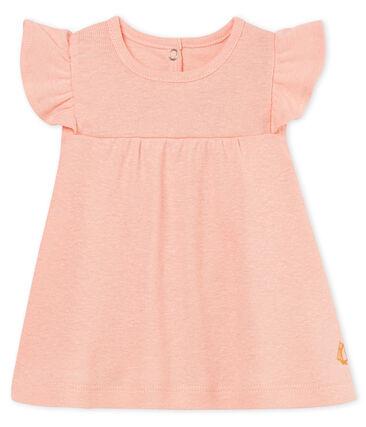 Blusa mc neonata in cotone/lino rosa Rosako