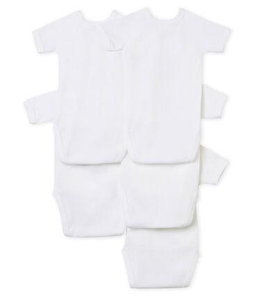 Confezione da 5 body nascita manica corta bebè unisex lotto .