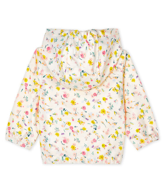 Giacca antivento fantasia bebè unisex bianco Marshmallow / rosa Rose