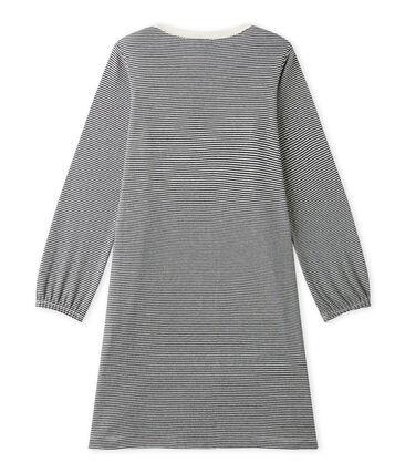 Camicia da notte per bambina millerighe blu Smoking / beige Coquille