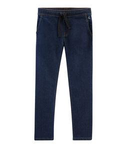 Pantalone da bambino in denim blu Denim Bleu Fonce