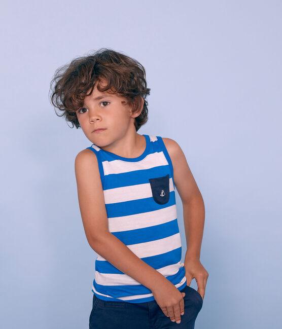 Canottiera bambino blu Riyadh / bianco Marshmallow