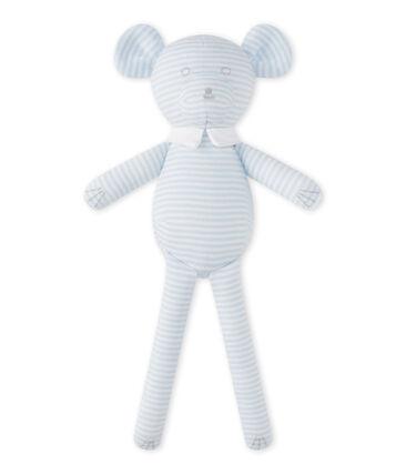 Doudou orsetto millerighe blu Fraicheur / bianco Ecume