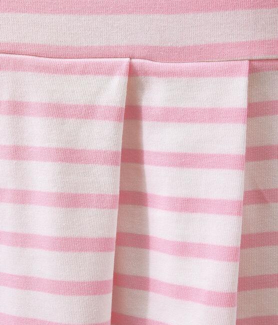 ABITO MANICHE CORTE bianco Marshmallow / rosa Babylone