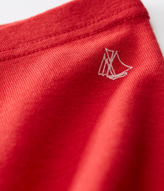 Legging bambina tinta unita rosso Terkuit