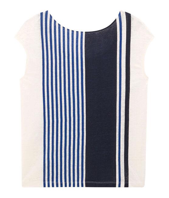 T-shirt maniche corte donna in lino bianco Marshmallow / bianco Multico Cn