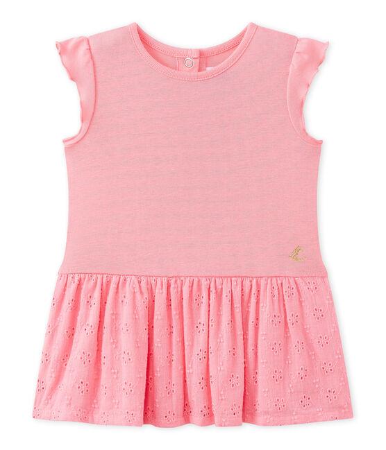 Abito bebè bambina con maniche a farfalla rosa Petal