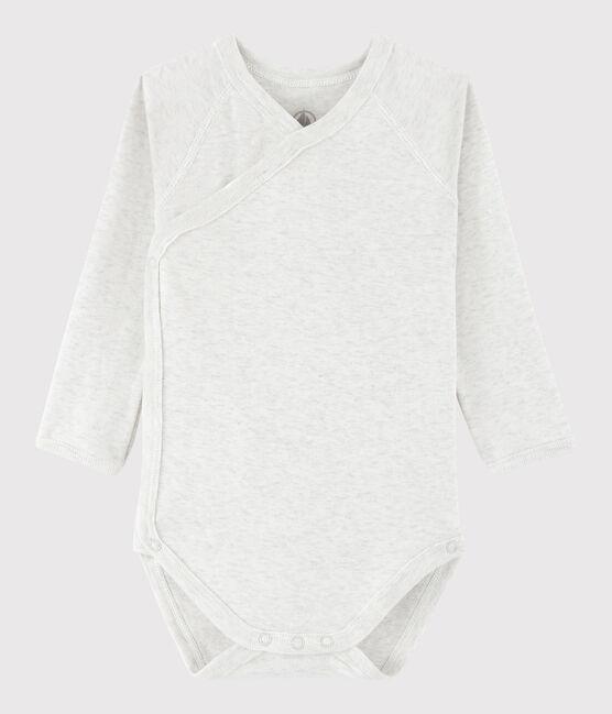 Body incrociato a manica lunga bebè unisex grigio Montelimar Chine