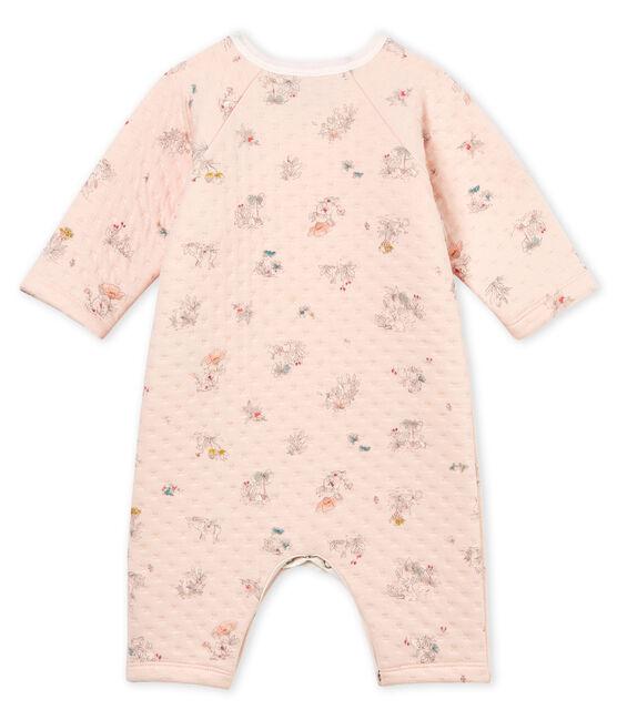 Tutina pigiama bambina in tubique rosa Vienne / blu Fontaine
