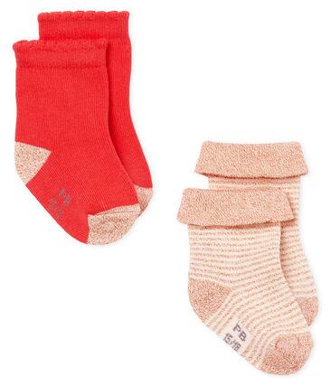 Lotto da 2 paia di calzini bebè femmina