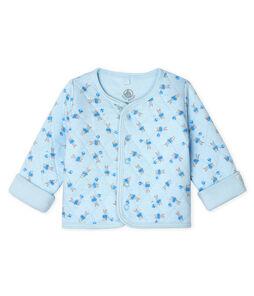 Cardigan bebè in tubique trapuntato blu Fraicheur / bianco Multico