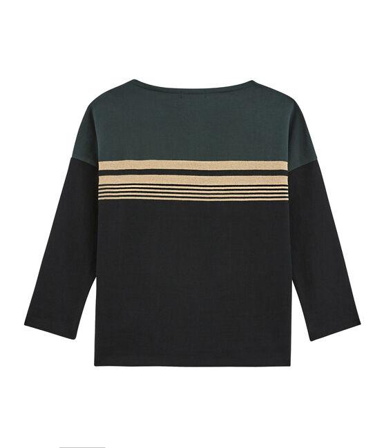 Maglietta a righe sfumate da donna nero Noir / bianco Multico