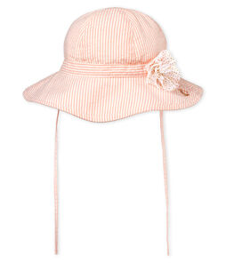 Cappello rigato bambina