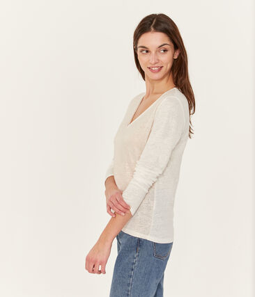 T-shirt maniche lunghe donna in lino cangiante