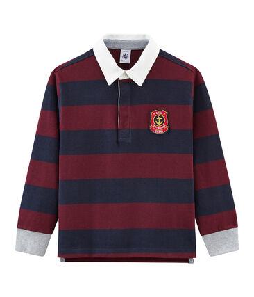 Polo rugby rigata per bambino