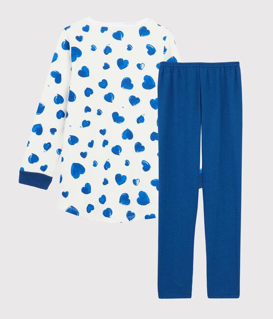 Camicia da notte cuori bambina in molleton con leggings bianco Marshmallow / bianco Multico