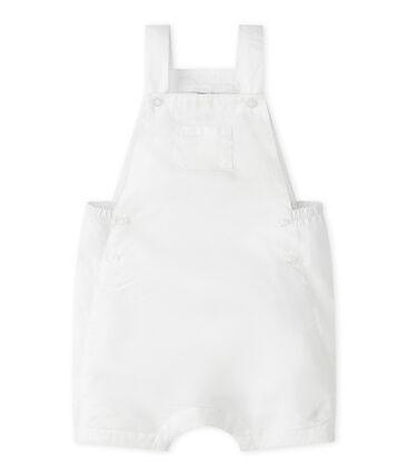 Salopette corta bebè maschio in lino