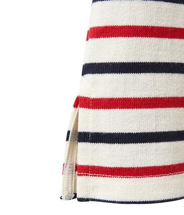 Marinière donna tricolore in jersey pesante