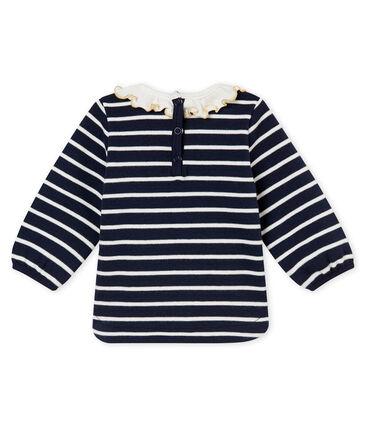 Marinière per bebé femmina blu Smoking / bianco Marshmallow