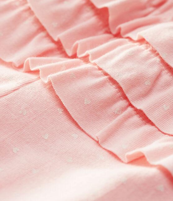 Leggins stampati bebè femmina rosa Minois / bianco Marshmallow