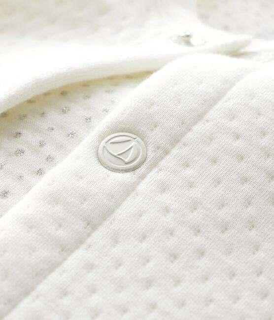 Cardigan bebè femmina in tubique bianco Marshmallow