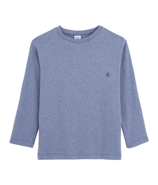 T-shirt a maniche lunghe bambino blu Captain Chine