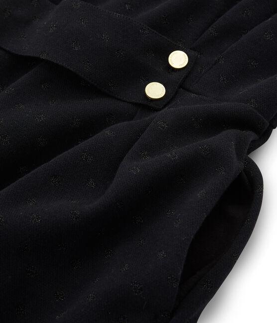 Abito attillato a maniche lunghe donna nero Noir / nero Lurex Noir