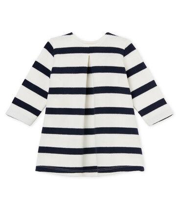 Abito ml righe marinare neonata bianco Marshmallow / blu Smoking