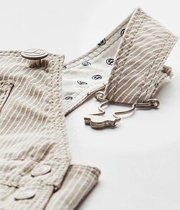 Salopette corta bebé maschio grigio Minerai / bianco Lait