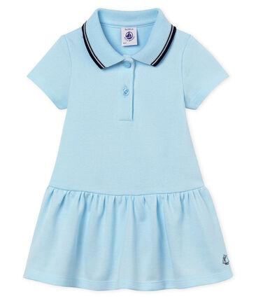 Abito a manica corta bebè femmina blu Bocal
