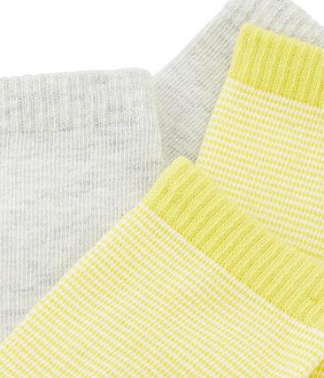 Set di 2 paia di calzini bambino grigio Beluga