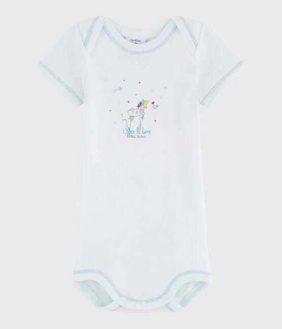 Body manica corta bebè maschietto blu Bocal