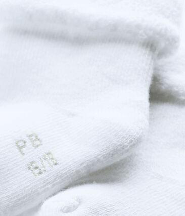 Calzini in spugna, soffici e confortevoli. bianco Ecume