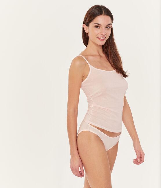 Canottiera con spalline donna bianco Marshmallow / rosa Rosako
